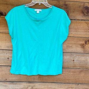 Coldwater Creek Sea green cotton blouse
